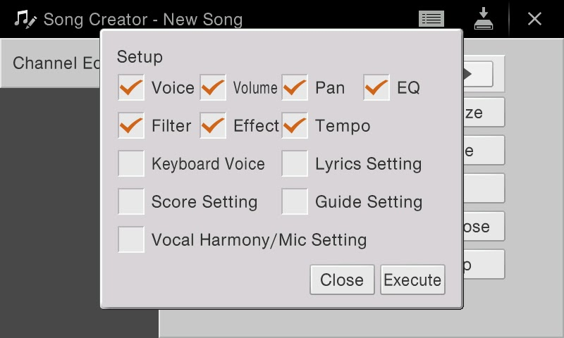 your song midi: