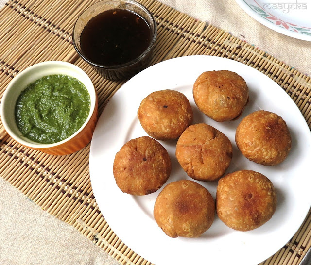 Aloo Kachori / Potato Puffs | Maayeka - Authentic Indian Vegetarian ...
