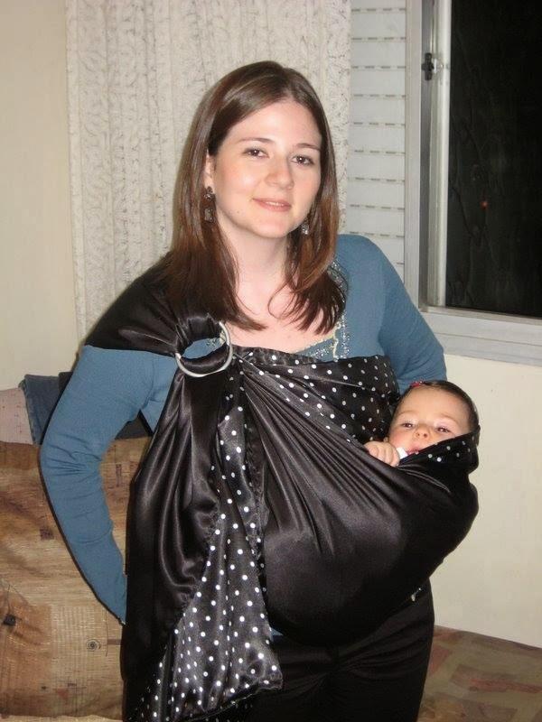 Carregador de bebê - Sling de Argolas