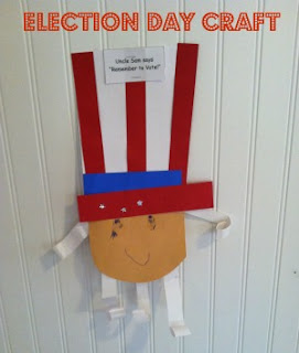 President craft, preschool crafts, election for kids, the election for kids, books about presidents