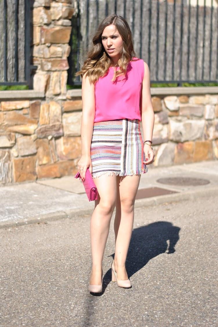 Navajo Pink Skirt