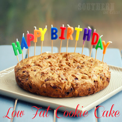 Low Fat Cookie Cake Recipe - Healthier Birthday Cakes
