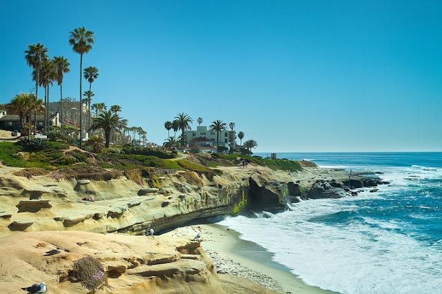 Praia de La Jolla em San Diego