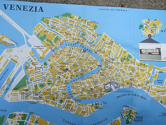 Map of Venice Italy – Venice Italy Tourist Map