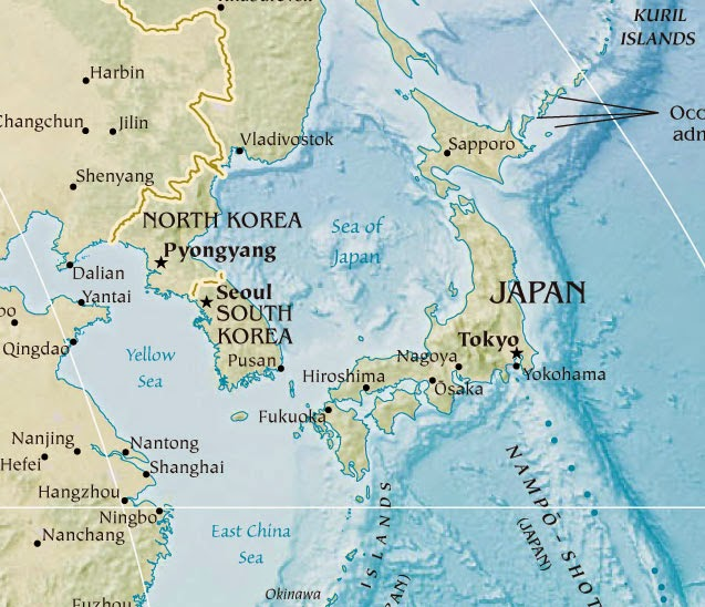 Geographical Maps Of Korea And Japan Free Printable Maps