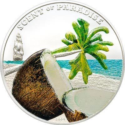 Palau coins Coconut Scent of Paradise