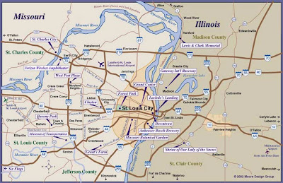 Metro St Louis map