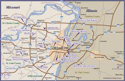 Metro St Louis map