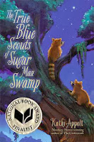 the true blue scouts of sugar man swamp by kathi appelt book cover