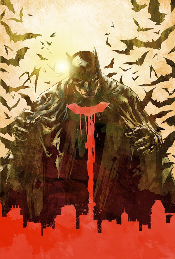 Batman Cover with Blood