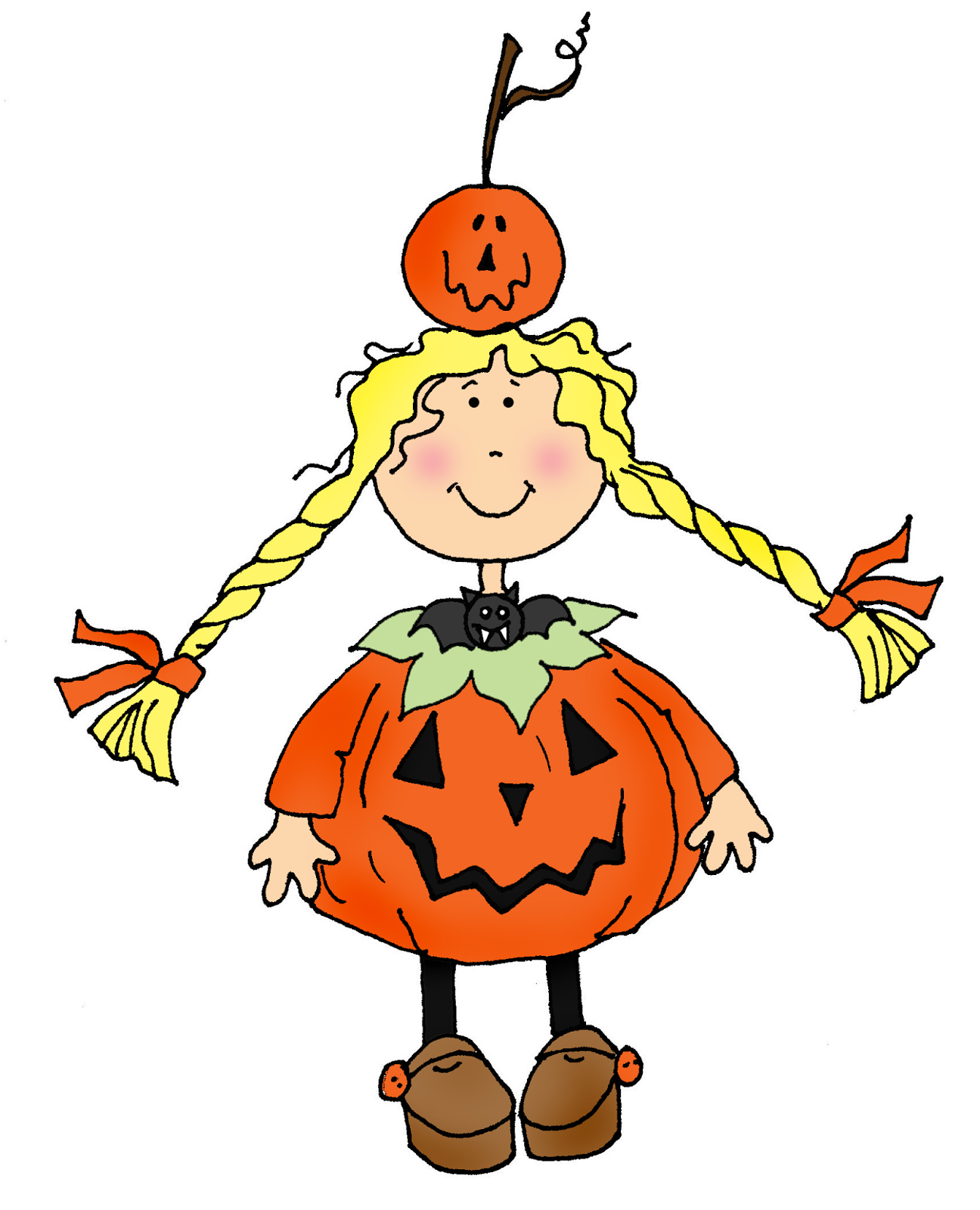 Girl Pumpkin Pumpkin Costume Girl