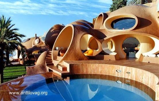 Sofisticada residencia orgánica en la Costa Azul casa de Pierre Cardin