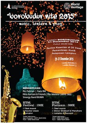 malam tahun baru di Borobudur