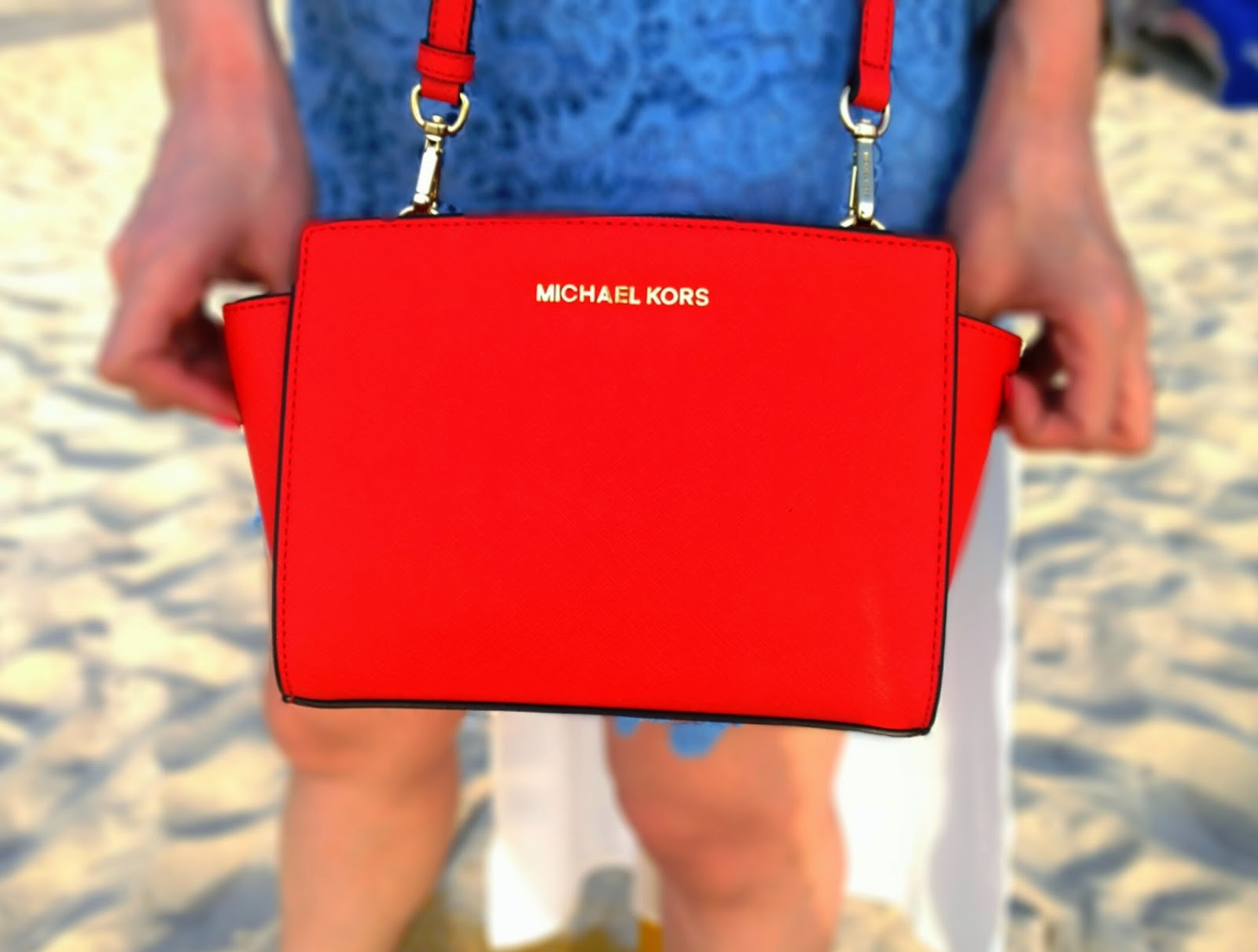 Red Michael Kors Bag