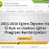 İstanbul Üniversitesi Uzaktan Eğitim Bölümleri 2015-2016