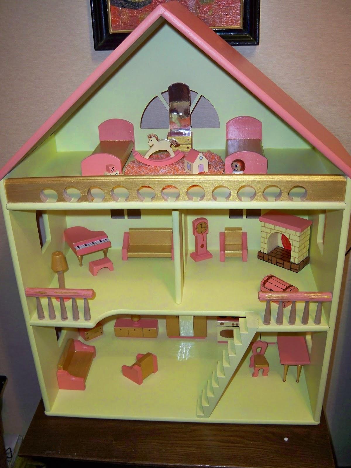 Как сделать свой домик для кукол своими рукам 434