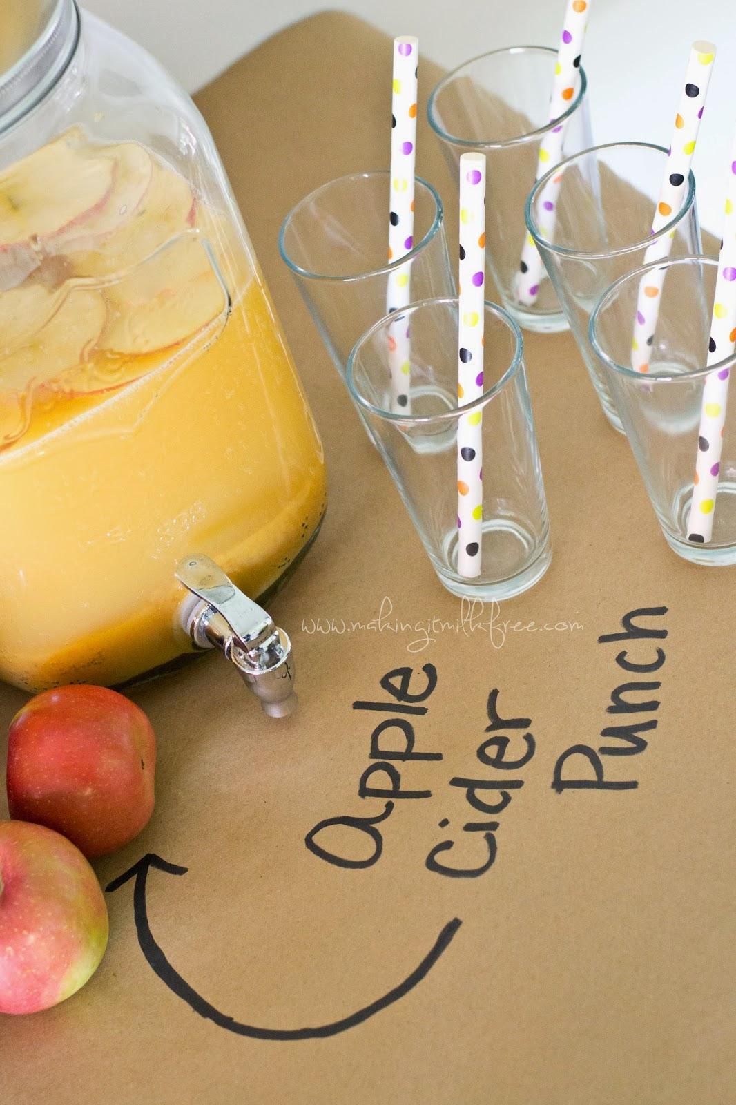 #glutenfree #dairyfree #applecider #punch #fall #party