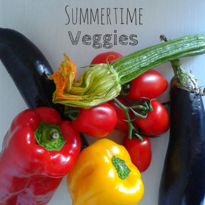 fettuccine casarecce con verdure estive - summertime veggies pasta