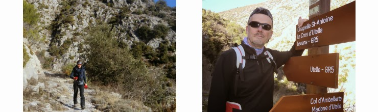 Walking along GR5 from Utelle and leaving GR5 at signpost 6