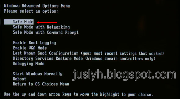 CARA BOOT WINDOW  KE SAFE MODE