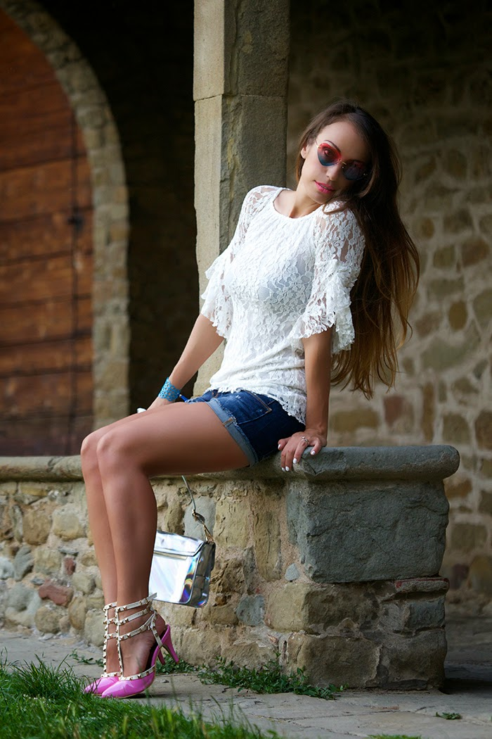 look con shorts jeans