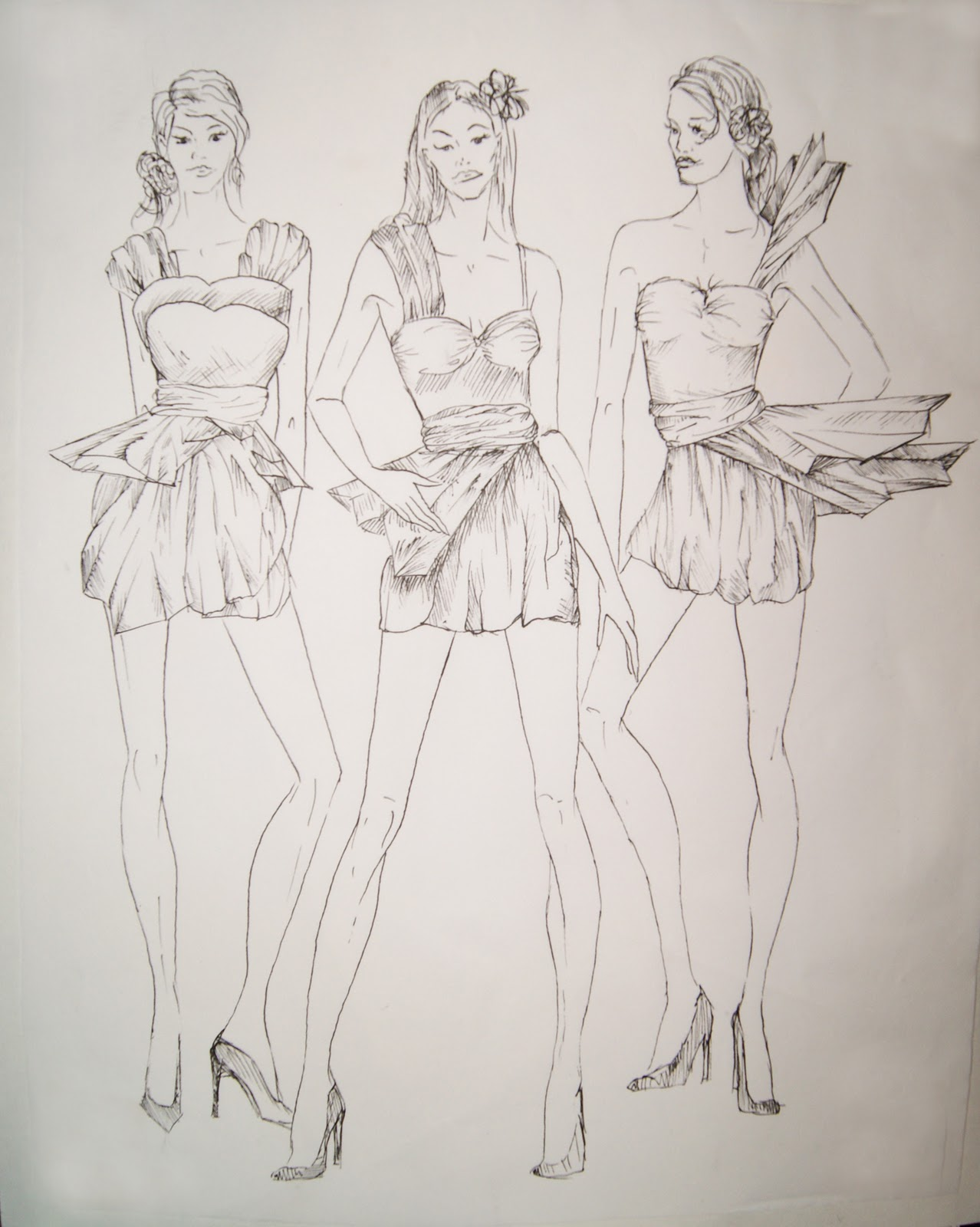 Fashion Drawing Mannequin Fashion illustration / dress