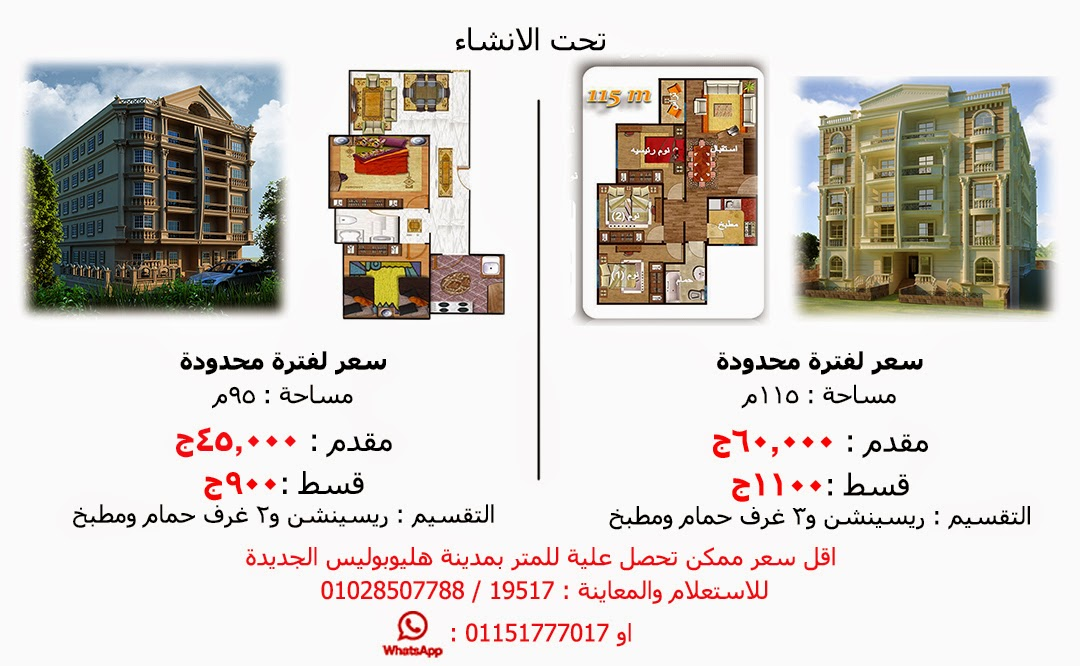 Lowest price per meter in new heliopolis city
