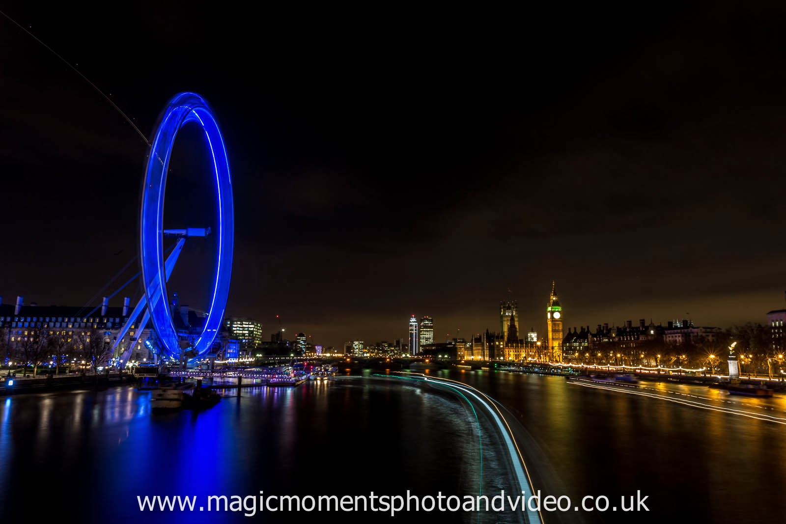 The River Thames and the London Eye