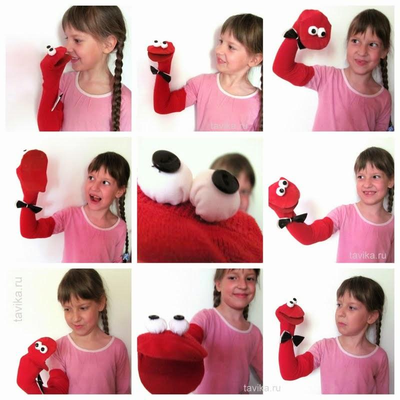 перчаточная кукла на руку