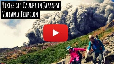 Watch how these Hikers Get Caught in sudden Japanese Volcanic Eruption as they capture the Whole Incident while Fleeing the spot and get caught by the ash and smoke brought by the billowing gray cloud via geniushowto.blogspot.com Volcanic eruption caught live video