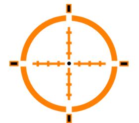 Orange Crosshair Target