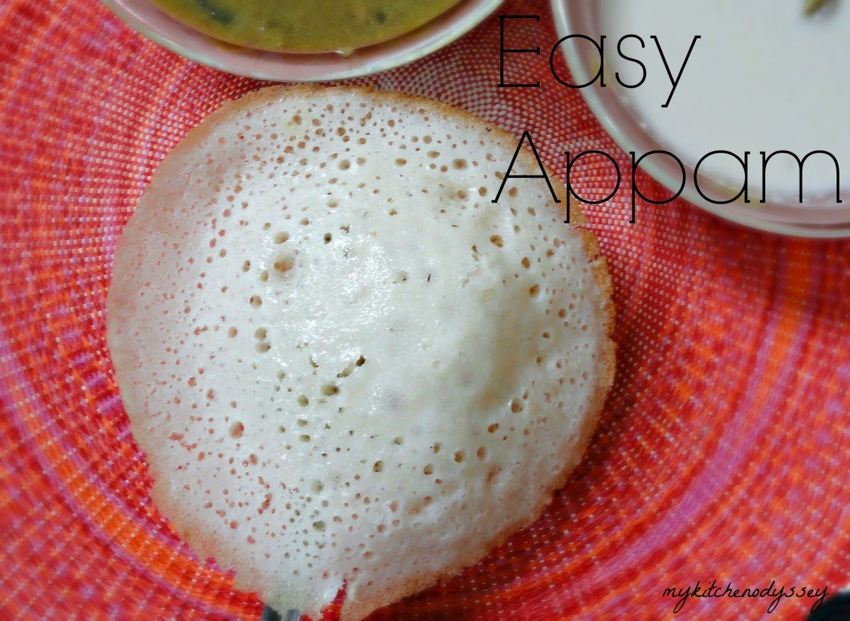 Appam ready to serve with coconut milk and kuruma