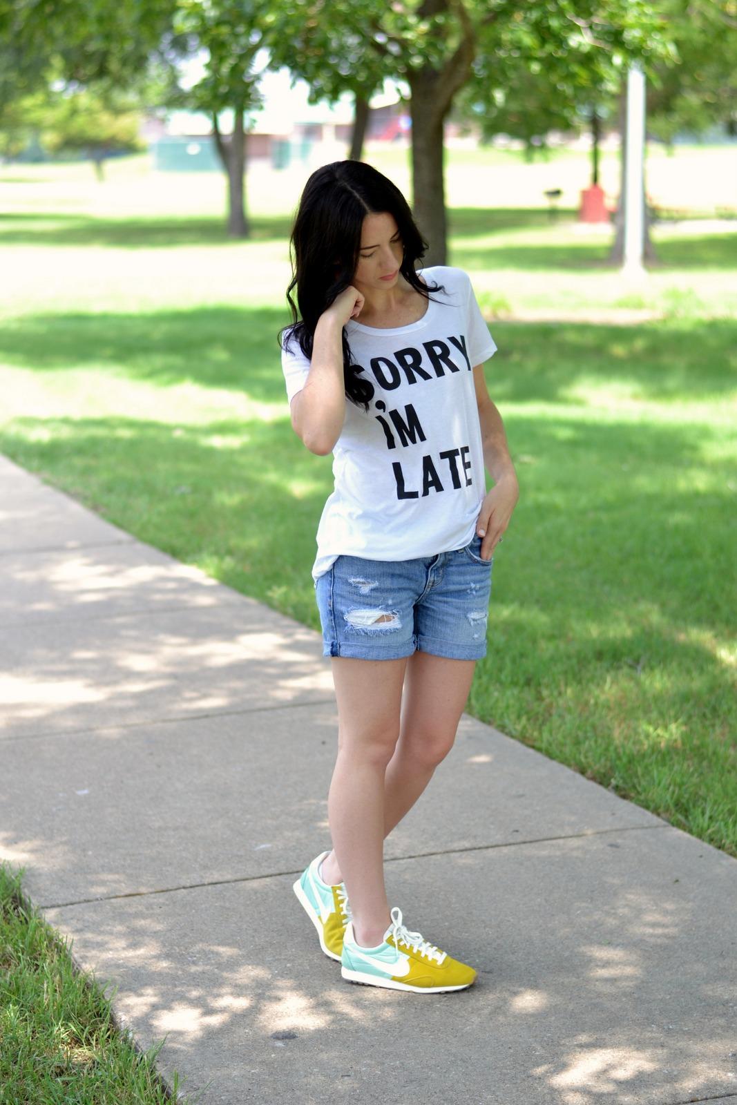 Summer Tee, Shorts and Nikes