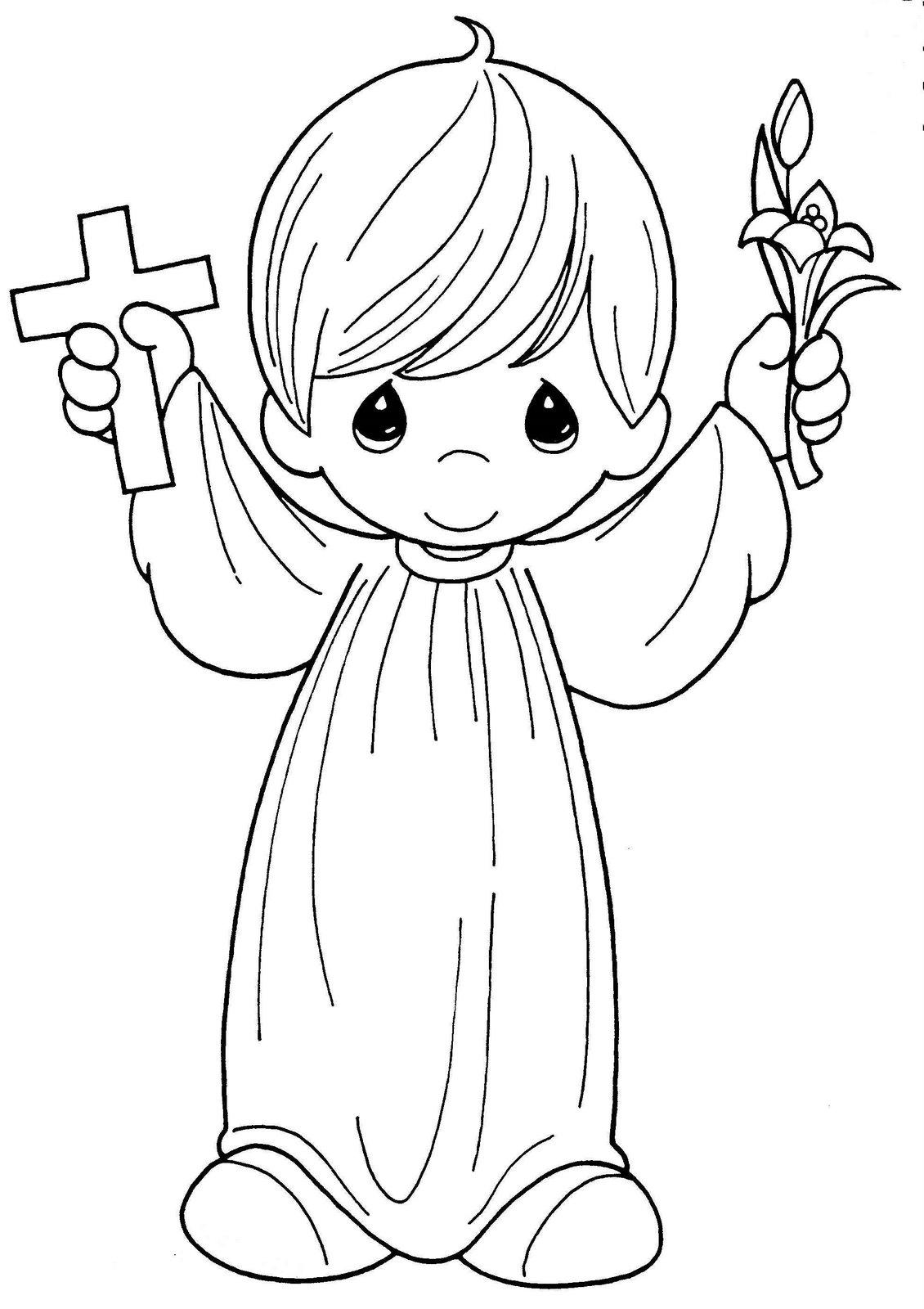 Child making first communion coloring child coloring for Immagini angeli da colorare