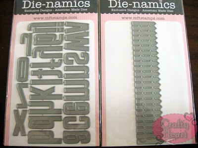 My Favorite Thing Die-namics dies - High-Rise Alphabet Lowercase, Picket Fence