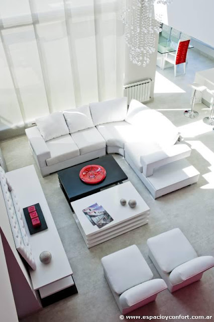 SALAS DE COLOR BLANCO - WHITE LIVINGROOM