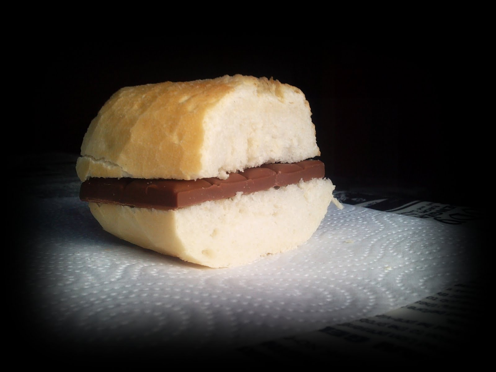 merienda 80's - bocadillo chocolate