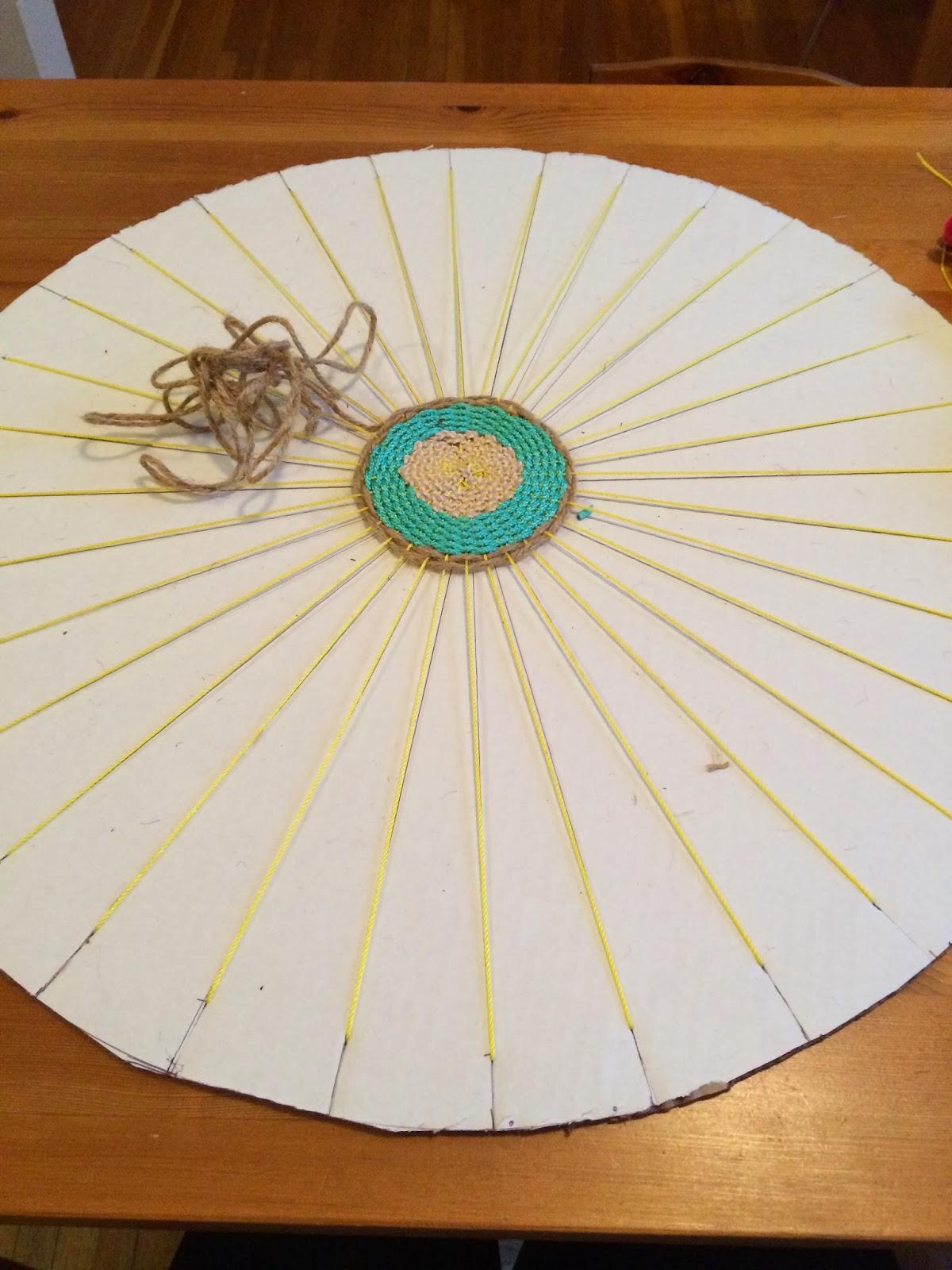 DIY Woven Pompom Rope Rug