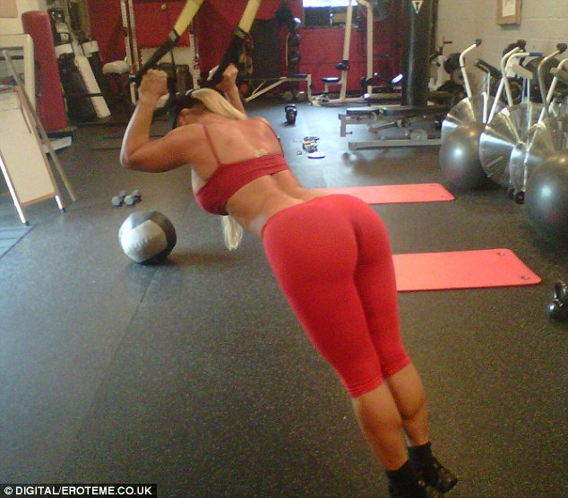 No Prizes For Guessing Who This Working Out Skimpily Dressed Coco Austin Uses Suspension Training To Boost Her Curves