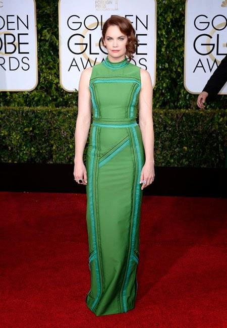Рут Уилсън в зелена рокля Prada на наградите Златен глобус 2015