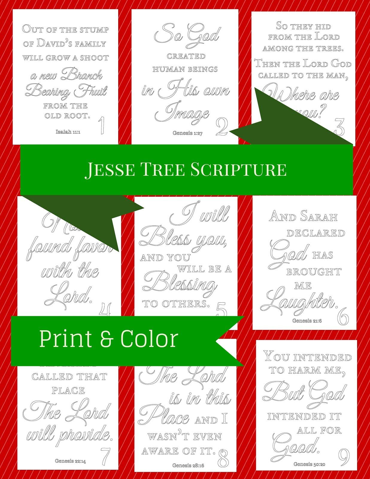 Jesse Tree Printables