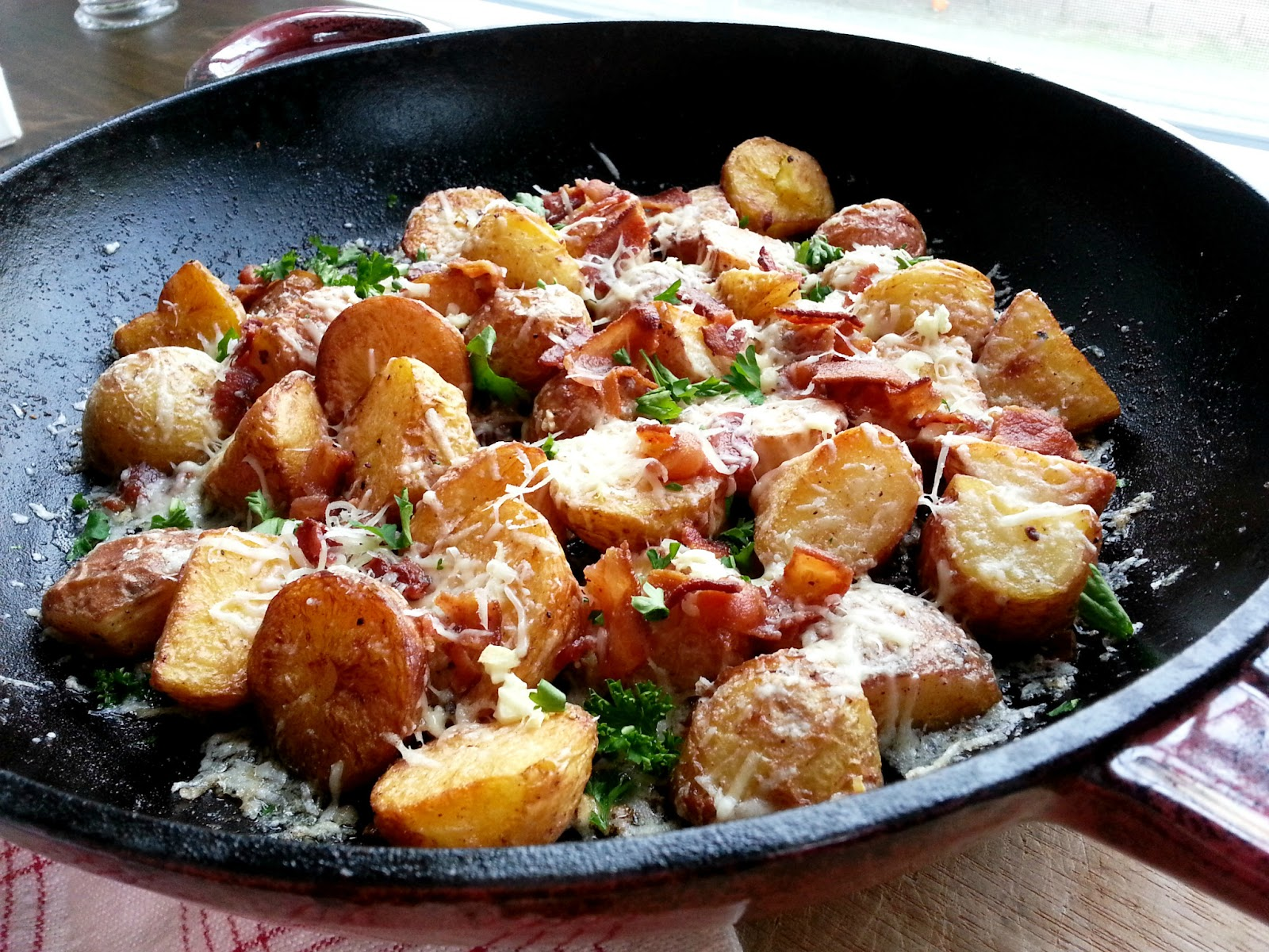 Castellon's Kitchen: Roasted Potatoes with Bacon and Parmesan