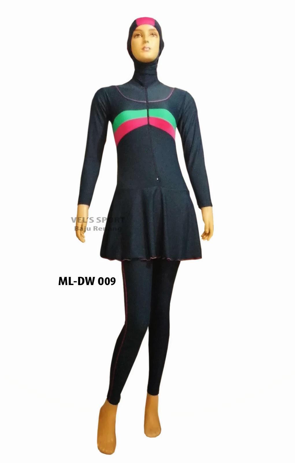 baju renang muslimah ml dw 009 adalah baju renang untuk wanita dewasa