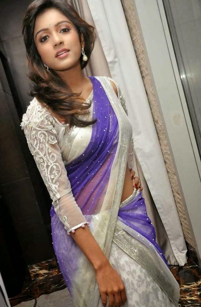 Actress Vithika Seru In Designer Half Saree