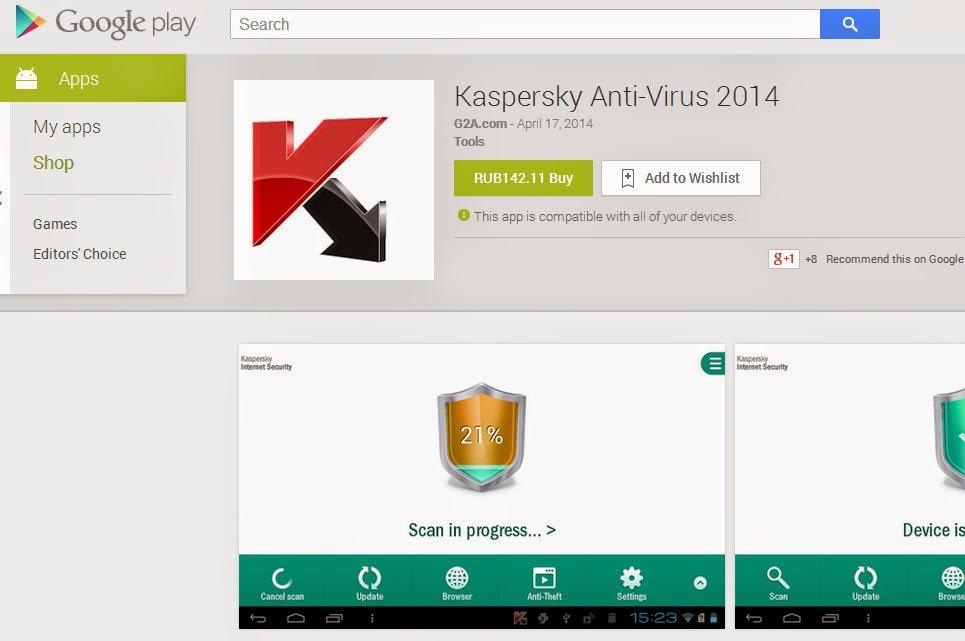 Fake Kaspersky Antivirus app found on Google Play, Windows Phone ...