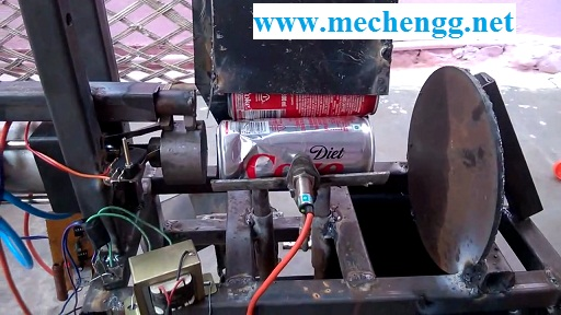Automatic Pneumatic Operated Waste Can Crusher Machine
