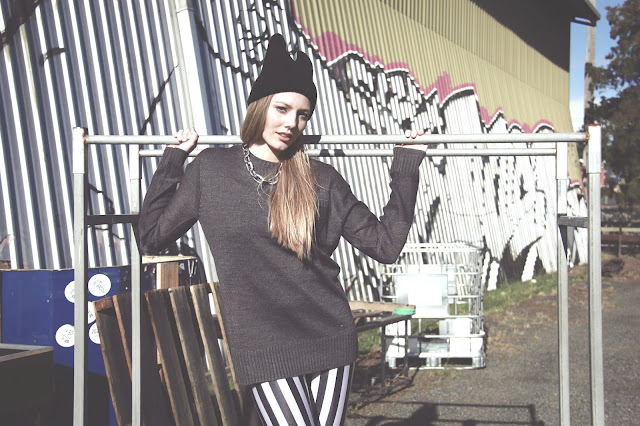 aneita yang, fadography, blackmilk, colette, editorial fashion, graffiti, jeffery campbells, metalheadanddamsel, cat beanie, photoshoot, sarah peters, tasha ross, three of something, colette, chain necklace, mens jumper, blackmilk leggings, model, modelling, styling, portfolio, lesimplyclassy, supre, sydney, marrickville, graffiti, samira hoque stylist, samira hoque styling, samira hoque blog,