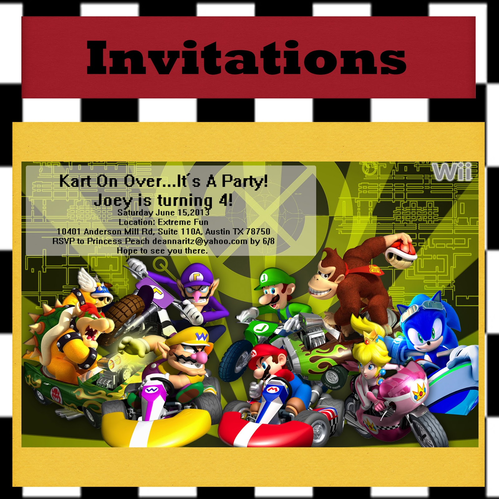 Gloriously Made Mario Kart Birthday Party