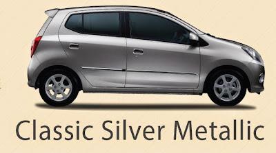 Pilihan Warna Daihatsu Ayla Classic Silver Metalic