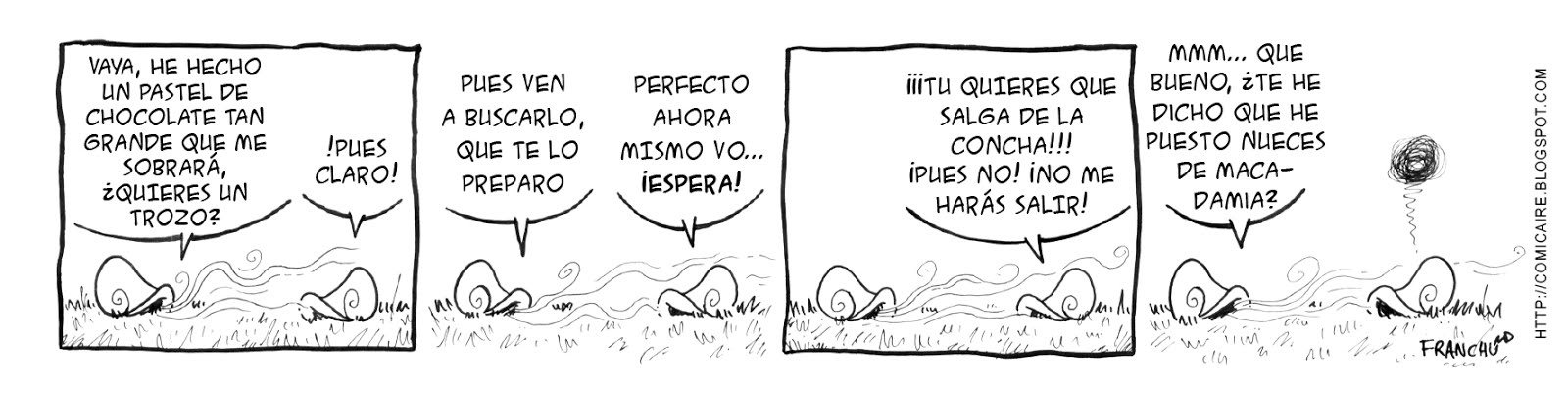 Tira comica 140 del webcomic Cargols del dibujante Franchu de Barcelona